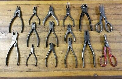 Rare ANTIQUE Tools Lot • Vintage PLIERS Mechanics Electricians Jewelers Tool USA