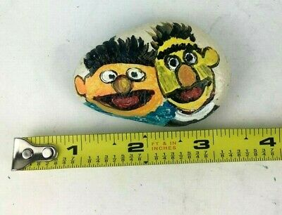 Hand Painted River Rock Bert And Ernie Sesame Street