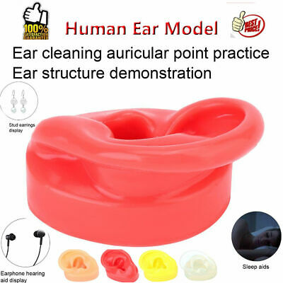 Human Soft Silicone Right Ear Model Life Size Acupuncture Study Practice Tool