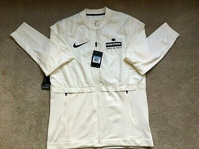 NEW Nike Penn State Nittany Lions DriFit Men Jacket Saquon White NWT $100 Medium