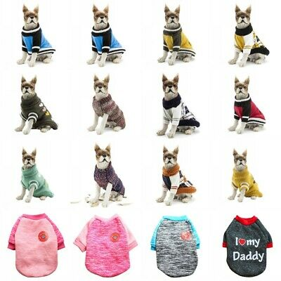 Small Dog Coat Jacket Knitted Winter Clothes Puppy Sweater Coat Clothing Apparel