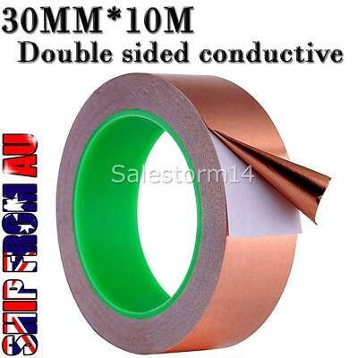 30mm*10m Copper Foil adhesive Tape EMI shielding, double sided conductive
