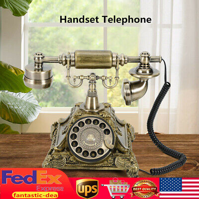 Vintage Rotary Dial Telephone Phone Home Office Old Fashion Handset Telephone US