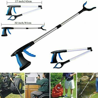 NEW Foldable Garbage Pick Up Tool Grabber Reacher Stick Reaching Grab Claw Grip