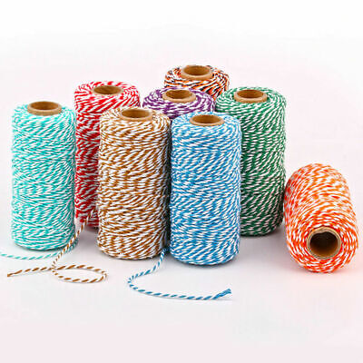 2 Tone 3 Tone Eco Friendly Packaging String 10m Length Pink Bakers Twine