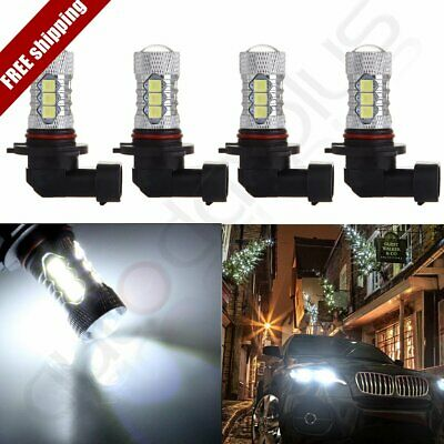 2x Xenon 9005 HB3 60W 6000LM 6000K Ultra White Cree LED 12 SMD Fog Light Fast
