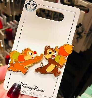 Disney Parks Shanghai 2019 Cute Chip & Dale Collection Trading Pins