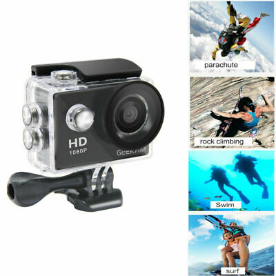 "2"" 12MP Sports Action Camera HD 1080P Waterproof for Video Camcorder Gift 2019 #"