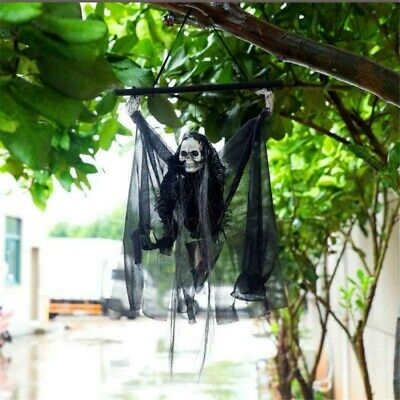 Skull Halloween Hanging Ghost Haunted House Horror Electric Voice Control Props
