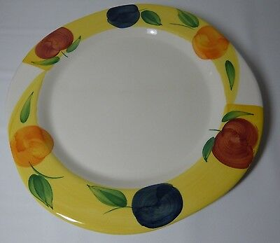"""12"""" Plate/Serving Platter Ceramica San Marciano Italy Handpainted Yellow Fruit"""