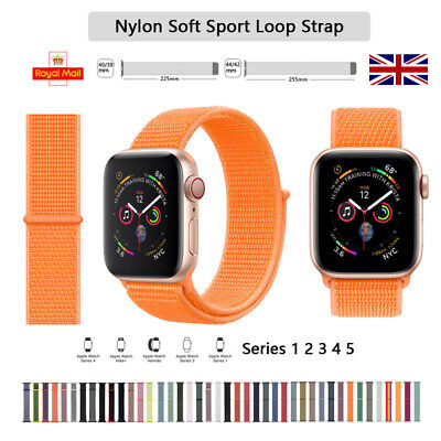 For iWatch Apple Watch Nylon Sport Loop Woven Strap Band Series 5/4/3/2/1 UK