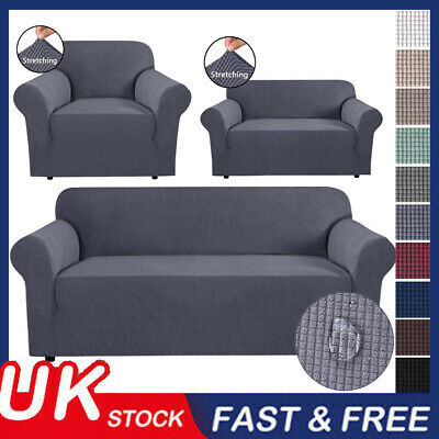 1-4 Sofa Covers Couch Slipcover Stretch Elastic Fabric Settee Protector Fit NEW