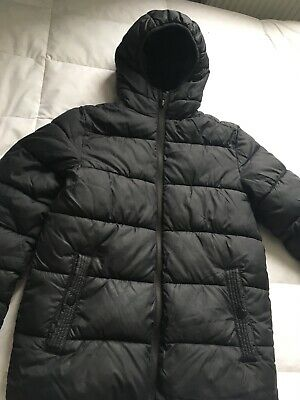 Next Boys Black Quilted Padded Puffa Jacket Coat Hooded Age 12 VGC