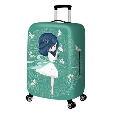 Printed Travel Suitcase Protective Cover Luggage Protector Dust proof Elast S6D7