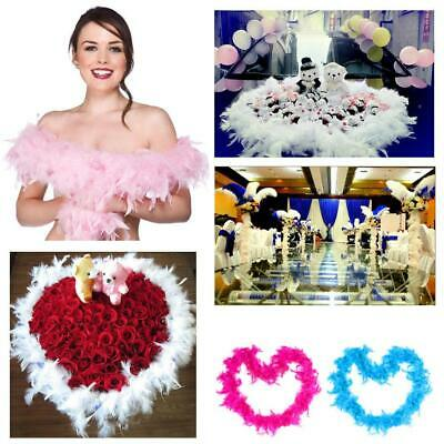 2m Wedding Supplies Craft Feather Boa Fluffy Flower Costume Dressup Party Decor