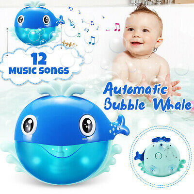 Bath Automatic Musical Maker Indoor Kids Shower Bubble Machine Blowing Toys Baby