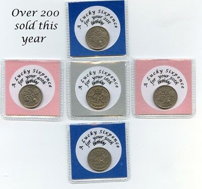 Special Birthday Lucky Sixpence  18th 21st 30th 40th 50th Birthday Gift Keepsake