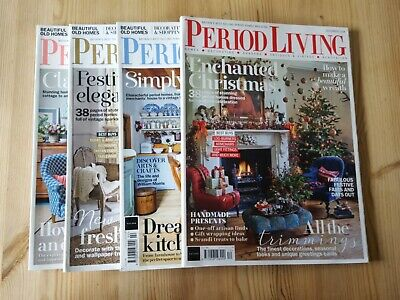 Period Living Magazines x 4 - Christmas Dec '18 & Jan, Feb, March 2019 pre-owned