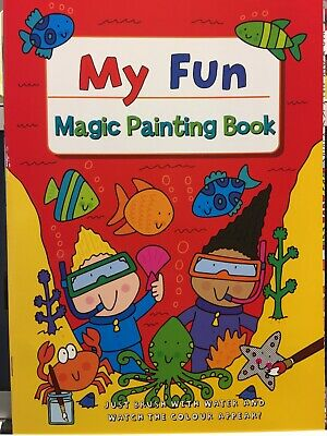 New - Magic Painting Book - Design 2 - 16 Pictures To Paint With Water