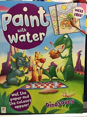 New - Paint With Water - Dinosaurs - 16 Pictures