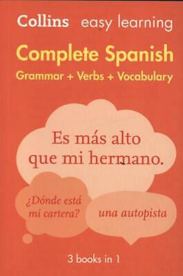 Easy Learning Spanish Complete Grammar, Verbs and Vocabulary