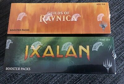 MTG Guilds of Ravnica and Ixalan Factory Sealed Booster box English Free Ship