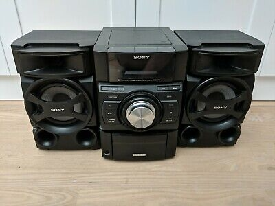 Sony Mini Hi-Fi Component Stereo System CD Player W/ iPod Dock W/ Remote.
