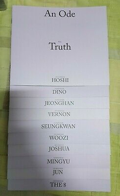 SEVENTEEN 3rd Full Album An Ode TRUTH Ver. Mini Photobook + Sticker! + Freebies