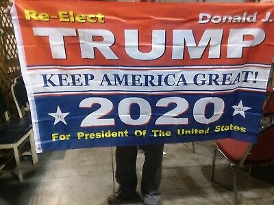 3x5 Ft RE-ELECT 2020 DONALD TRUMP KEEP AMERICA GREAT FLAG W/ GROMMETS