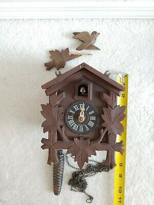 Black Forest musical cuckoo clock. For parts and repair.