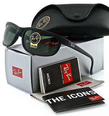 Ray-Ban Predator 2  Matte Black l Green Classic G-15 RB2027 W1847 62mm