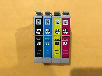 New Epson 88 Ink Cartridge 4-Color Black Cyan Magenta Yellow CMYK