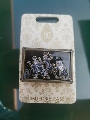 Disney Pin Haunted Mansion 50th Anniversary Hitchhiking Ghosts Logo LR