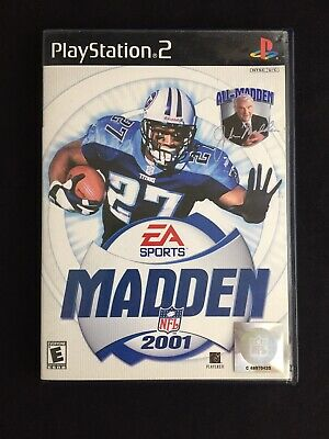 PS2 Madden NFL 2001 EA Sports Sony Playstation 2 Game