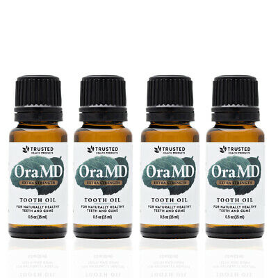 4 pack OraMD Extra Strength -100% Pure Care for Mouth Sores Dry Mouth