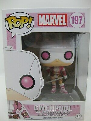 Funko Pop! GWENPOOL masked #197 Marvel Collectible Vinyl Figure with sword