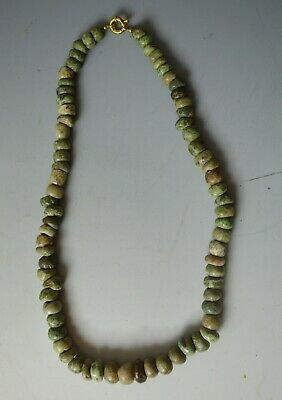 Pre Columbian Ancient Mexico Maya Jadeite Necklace, circa 600–AD 1200