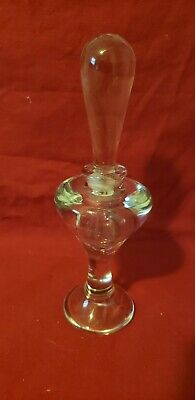 Vintage Clear Glass Perfume Bottle With Stopper