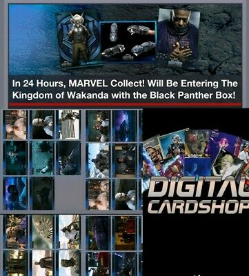 Topps Marvel Collect Trader Black Panther Box Movie Stills Complete Set 31 Cards