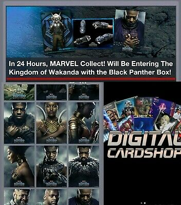 Topps Marvel Collect Trader Black Panther Box Poster Series Rare Set 11 Cards