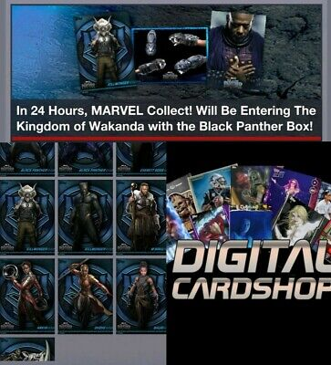 Topps Marvel Collect Trader Black Panther Box Character Art Complete Set 9 Cards