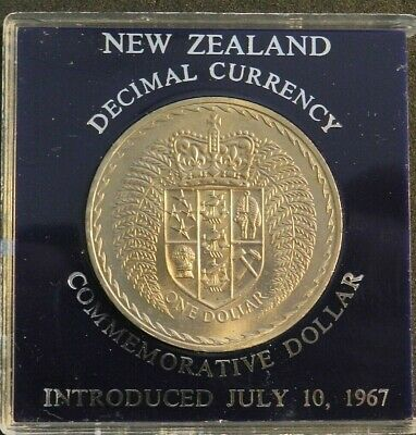 1967 New Zealand Commemorative Dollar - New Decimal Currency