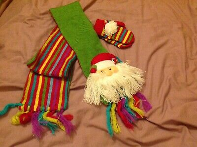 Russ Berrie Kids Christmas Scarf And Gloves Set
