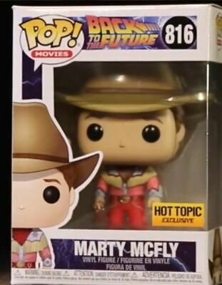 Funko Pop Movies #816 Marty McFly Back to the Future Hot Topic Excl PreOrder