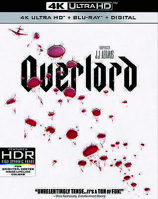 Overlord (4K Ultra HD, Blu-ray, Digital, *Slipcover) Brand New