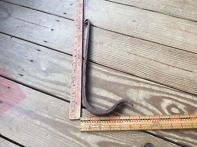 Primitive Hanging Butcher Curved Hook Metal  Bracket Hook Rustic Country