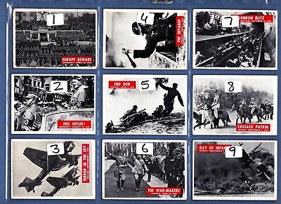 War Bulletin Bubblegum Cards Issued by   PCGC................Pick your own
