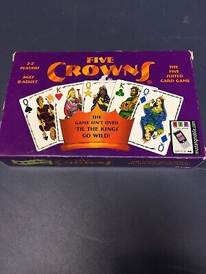 5 Five Crowns Playing Card Game Deck 5 Suit Rummy 100% COMPLETE