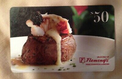 Fleming's Prime  Steakhouse Gift Card $50 Value with 10% Discount = $44.00