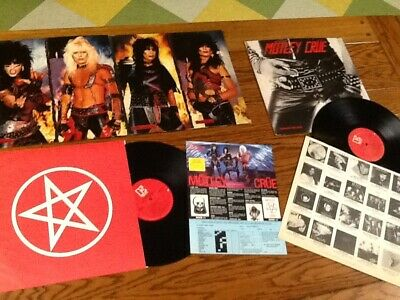 Motley crue lp record too fast for love 1982 & shout at devil 1983 heavy metal